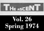 The Ascent, Vol. 26, Spring 1974