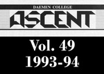 The Ascent, Vol. 49, 1993-1994 by Daemen College